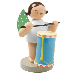 Brunette Angel Drum Figurine Wendt Kuhn FGW650X45