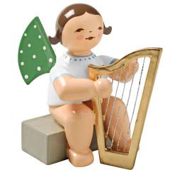Wendt Kuhn Angel Harp Figurine