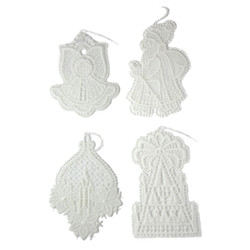 Lace Christmas Ornaments Set of 4 ORXLACE4SET2
