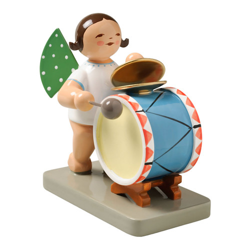 Brunette Wendt Kuhn Angel Percussion Figurine FGW650X44-DK