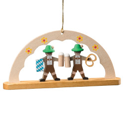 Oktoberfest Bavarian German Pretzel Man Ornament ORR136X19