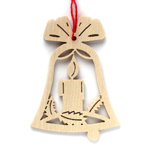 Wooden Candle Bell Christmas German Ornaments ORR113X04
