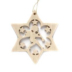 Wooden Angel Star Christmas German Ornament ORR113X06