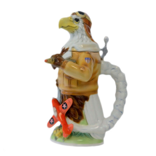 Eagle Pilot Figure German Beer Stein - K8015