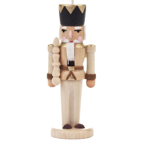 Nutcracker German King Scepter Ornament Natural ORD074X026NF2