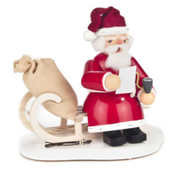 Santa Sitting Sled German Incense Smoker SMD146X961