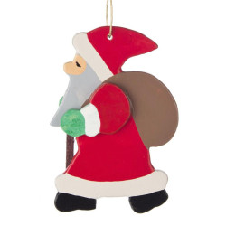 Santa Wooden German Ornament ORD199X026