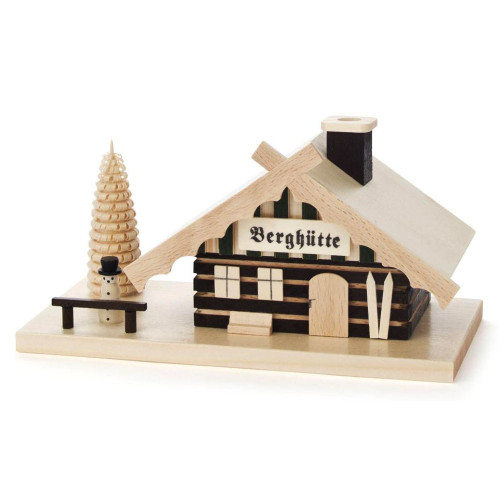 Mini Mountain Snowman Cabin German Smoker SMD146X1175