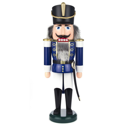 Blue White Hussar Sword German Nutcracker NCD003X104B
