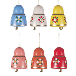 Six Colorful Bells Ornaments ORD224X691