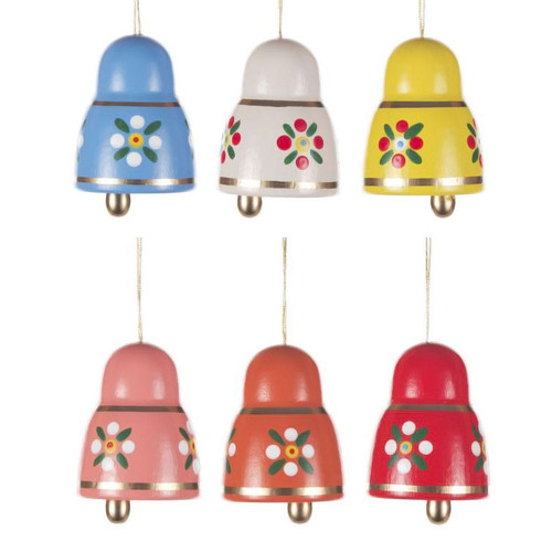 Six Colorful Bells Ornaments ORD224X691