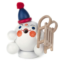 Mini Snowball Snowman Sled German Smoker SMD136X143X3