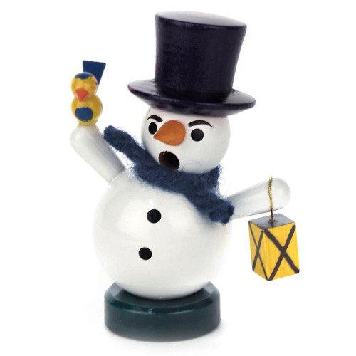 Mini Snowman Bird German Smoker SMD136X040EXBLACK