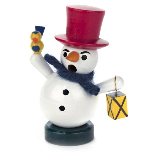 Mini Snowman Bird German Smoker SMD136X040EXRED