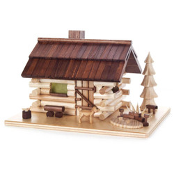 Forest Log Cabin Dog German Smoker SMD146X1695