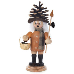 Pinecone Forest Gnome German Incense Smoker SMD146X1465