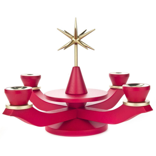 Red Advent Candleholder CHD201X106R