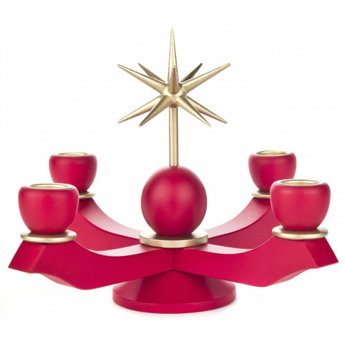 Red Advent Candleholder CHD201X105R