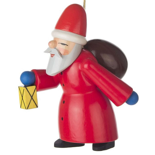Santa Carrying Lantern German Ornament ORD199X003