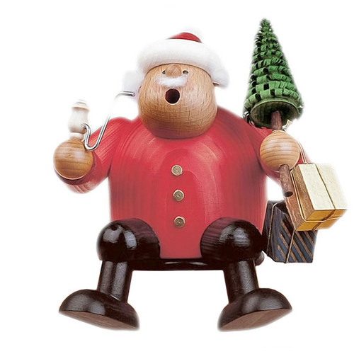 Santa Sitting with Tree German Smoker SMK215X59