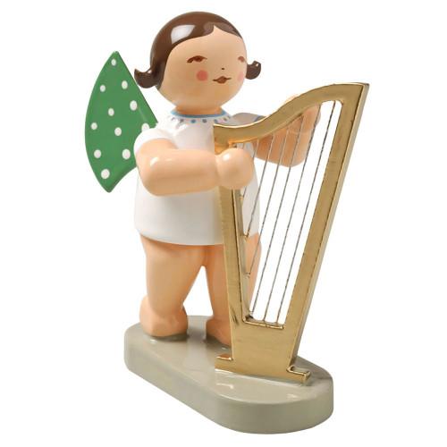 Wendt Kuhn Brunette Angel Large Harp Figurine FGW650X14-DK
