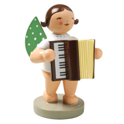 Wendt Kuhn Angel Accordion Brunette Figurine FGW650X48-DK