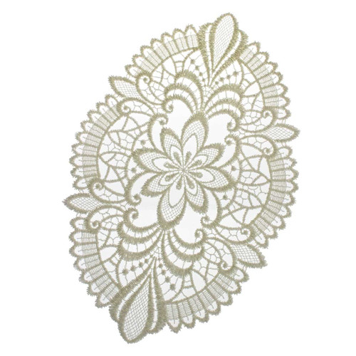 German Lace Oval Doily 8x11 Table Topper - LNOVAL20X30