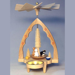 Kitten Cats German Christmas Tealight Pyramid PYR163X81