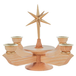 Natural Advent Candleholder CHD201X050X1