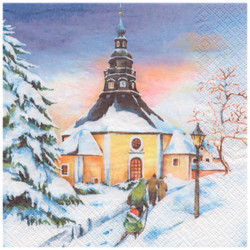 Winter German Scene Napkins NPD042X905