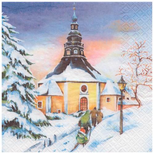Winter German Scene Napkins NPD042X905