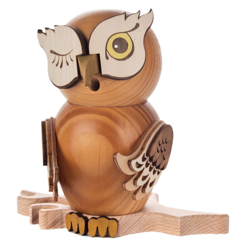 Winking Whimsical Owl German Smoker SMD146X1670X1