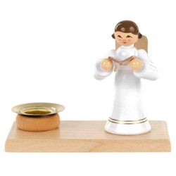 Singing White Angel Candleholder CHD237X003S