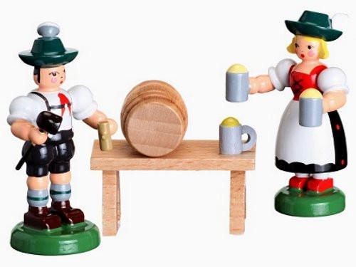 German Waitress Figurine Barrel