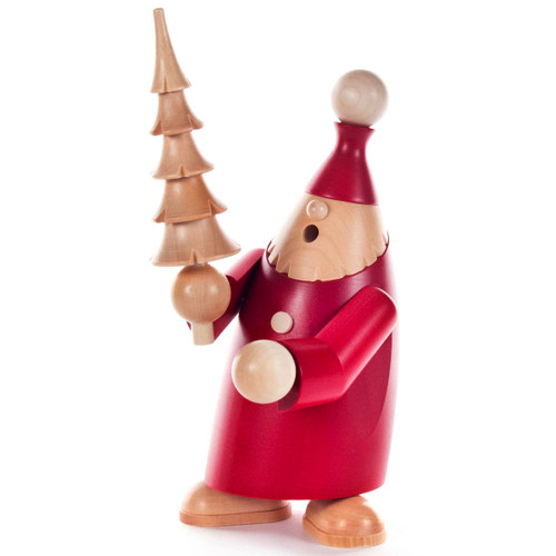 Red Santa Natural Christmas Tree German Smoker SMD146X2015