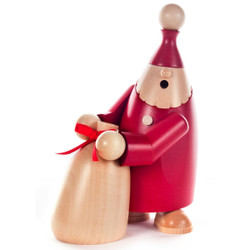 Red Santa Natural Toy Sack German Smoker SMD146X2016