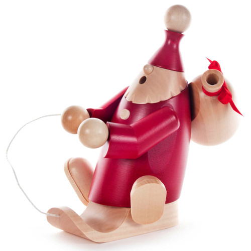 Red Santa Sled Sack German Smoker SMD146X2017