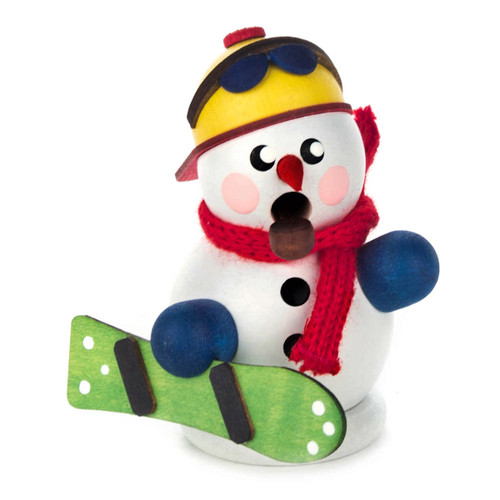 Mini Snowman Christmas Snowboard German Smoker SMD136X171