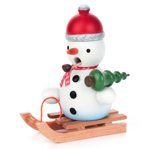 Mini Snowman Christmas Sled German Smoker SMD146X898