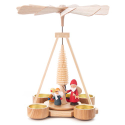 Santa Children Tea Light German Pyramid PYD085X754