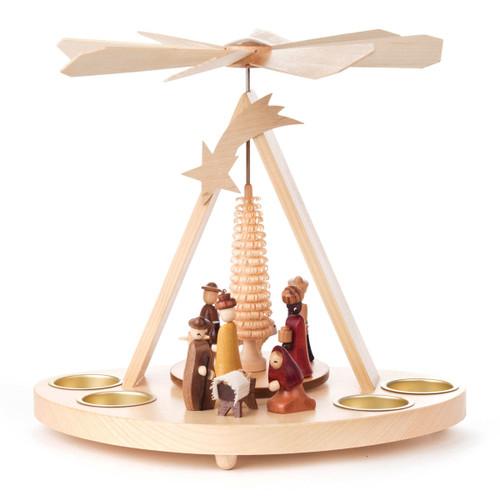 Oval Nativity Tea Light German Pyramid PYD085X583