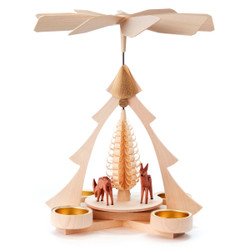 Tree Frame Deer Tea Light Pyramid PYD085X009T