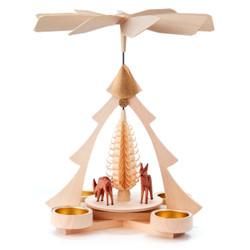 Tree Frame Deer Tea Light Pyramid PYD085X009T