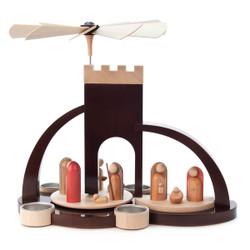 Bethlehem Arch Nativity Brown Tea Light German Pyramid PYD085X689BT