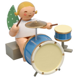 Blonde Wendt Kuhn Angel Sitting 2 Piece Percussion Figurine FGW650X44A
