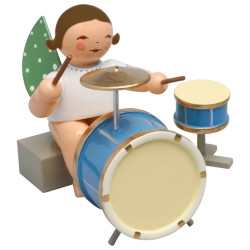Brunette Wendt Kuhn Angel Sitting 2 Piece Percussion Figurine FGW650X44A-DK