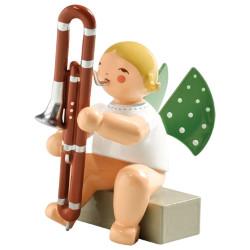 Blonde Wendt Kuhn Angel Contrabasson Figurine FGW650X74A
