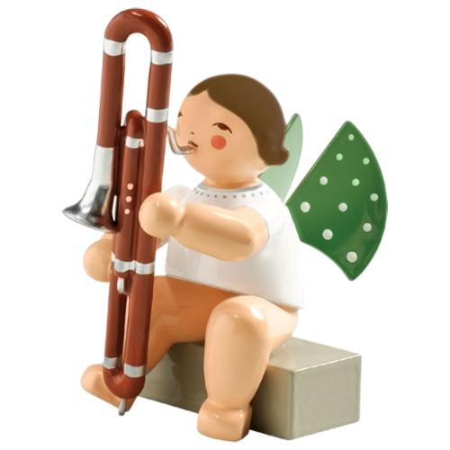 Brunette Wendt Kuhn Angel Contrabasson Figurine FGW650X74A-DK