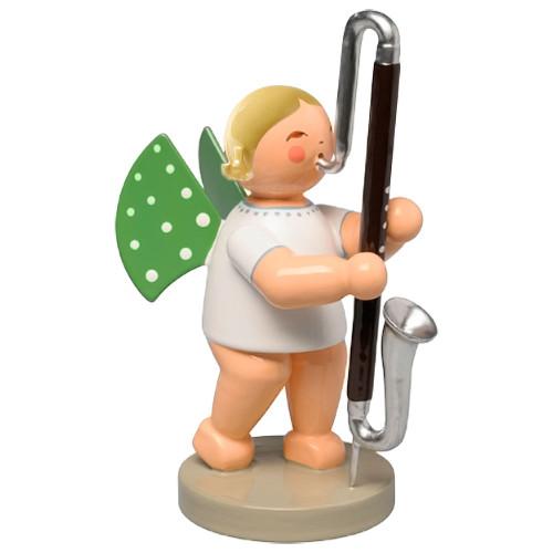 Blonde Wendt Kuhn Angel Contrabass Clarinet Figurine FGW650X76