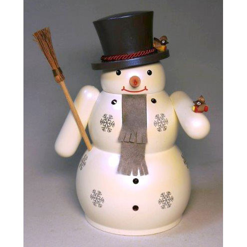 Black Hat Snowman Broom German Nutcracker NCR826X53
